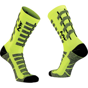 Northwave Husky Ceramic Tech High Sock Men, yellow fluo